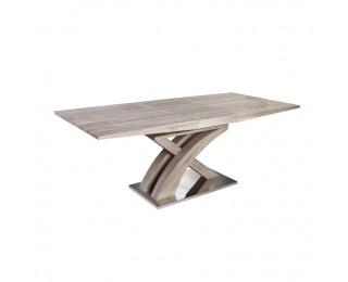 Rozkladací jedálenský stôl Bonet Typ 2 - dub sonoma / oceľ