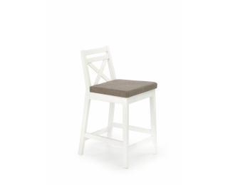 Barová stolička Borys Low - biela / hnedá