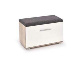 Botník (skrinka na topánky) Lima ST2 - biela / dub sonoma / sivá