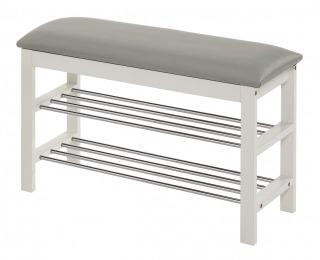 Botník ST-11 - biela / sivá / chróm