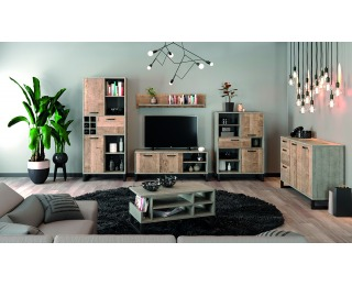Obývacia izba Bova - pieskový dub / woodcon
