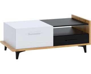 Konferenčný stolík Box BOX-03 - dub artisan / biela / čierna