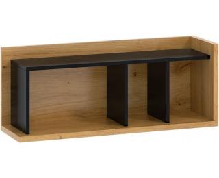 Polica Box BOX-04 - dub artisan / čierna