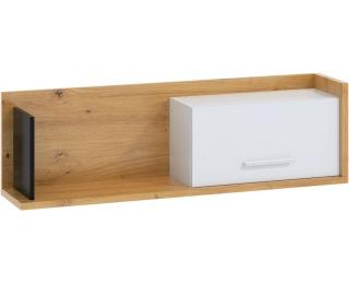 Polica Box BOX-11 - dub artisan / biela / čierna