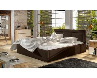 Čalúnená manželská posteľ s roštom Branco 140 - tmavohnedá (Soft 66)
