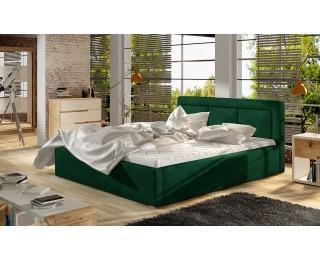 Čalúnená manželská posteľ s roštom Branco 160 - tmavozelená