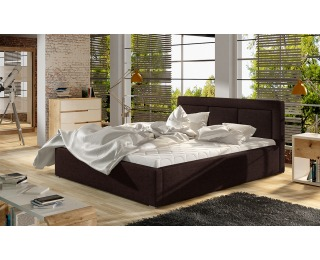Čalúnená manželská posteľ s roštom Branco UP 180 - tmavohnedá (Sawana 26)