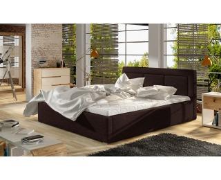 Čalúnená manželská posteľ s roštom Branco UP 200 - tmavohnedá (Sawana 26)