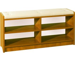 Botník s lavicou Bravo - jelša / béžová ekokoža