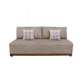 Pohovka s rozkladom a úložným priestorom Arbela Lux - béžová / vzor / drevo (TX061)