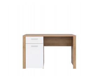 PC stôl Balder BIU/120 - dub riviera / biely lesk