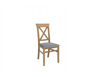 Jedálenská stolička Bergen - smrekovec sibiu zlatý / sivá