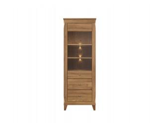 Vitrína s osvetlením Bergen REG1W2S - smrekovec sibiu zlatý