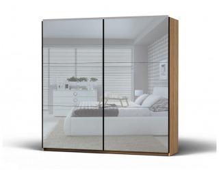 Šatníková skriňa s posuvnými dverami a zrkadlom Colin 220 - dub sonoma