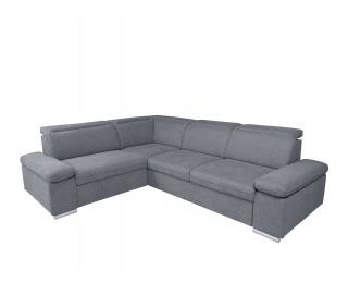 Rohová sedačka s rozkladom a úložným priestorom Darby L - sivá