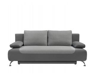 Pohovka s rozkladom a úložným priestorom Daria III Lux - sivá / tmavosivá