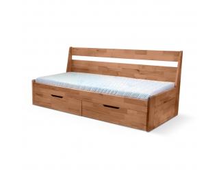 Rozkladacia posteľ s bočnými čelami Fenix Vario 90/180 - prírodná lakovaná