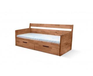 Rozkladacia posteľ s úložným priestorom Fenix Vario 90/180 - prírodná lakovaná