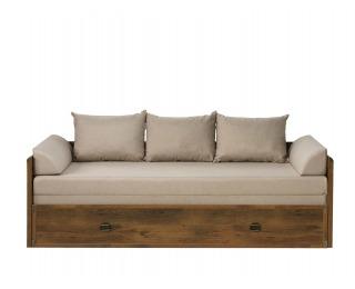Rozkladacia posteľ s úložným priestorom Indiana JLOZ80/160 - dub sutter