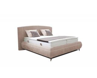 Čalúnená manželská posteľ s roštami John 160 - svetlohnedá