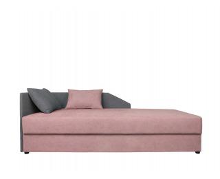 Jednolôžková posteľ (váľanda) Kelo 90 L/P - ružová / sivá