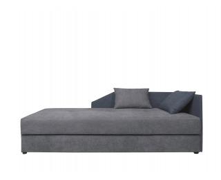 Jednolôžková posteľ (váľanda) Kelo 90 L/P - sivá / tmavomodrá