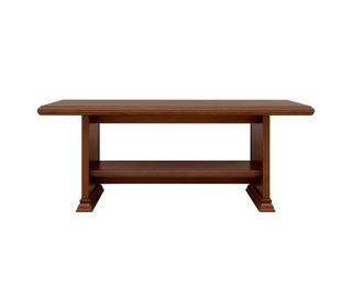 Rustikálny konferenčný stolík Kent ELAW130 - gaštan