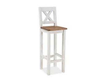 Barová stolička Poprad - medovo hnedá / borovica patina