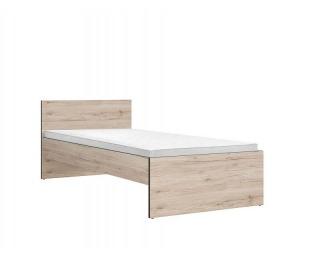 Jednolôžková posteľ Ronse LOZ/90 - dub san remo svetlý / sivý wolfram