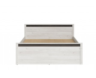 Manželská posteľ Salins LOZ/160 - smrekovec sibiu svetlý / borovica larico