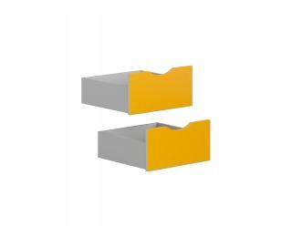 Doplnková zásuvka (2 ks) Stanford SZU - svetlosivá / zlté kari