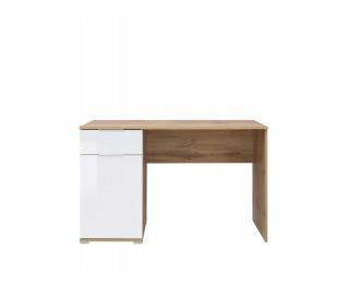 PC stôl Zele BIU/120 - dub wotan / biely lesk
