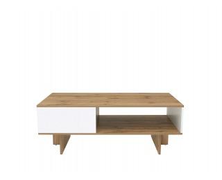 Konferenčný stolík Zele LAW/120 - dub wotan / biely lesk