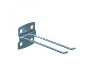 Pozinkovaný háčik k nadstavbe pracovného stola C160 - strieborná