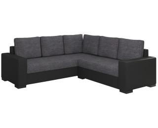 Rohová sedačka s rozkladom a úložným priestorom Calabria L/P - sivá (Sawana 05) / čierna (Soft 11)