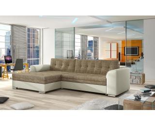 Rohová sedačka s rozkladom Caltanis L - cappuccino / béžová