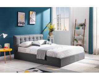 Čalúnená manželská posteľ s roštom Padva 160 - sivá