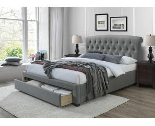 Čalúnená manželská posteľ s úložným priestorom Avanti 160 - sivá