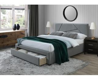 Čalúnená manželská posteľ s úložným priestorom Valery 160 - sivá