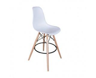Barová stolička Carbry - biela / buk