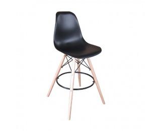 Barová stolička Carbry - čierna / buk
