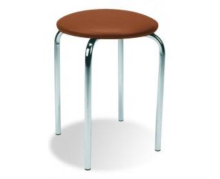 Stolička bez operadla Chico - hnedá (V49)