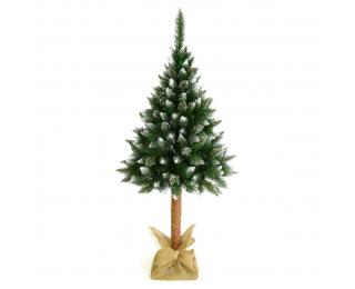 Vianočný stromček na pni Christee 5 220 cm - zelená / biela