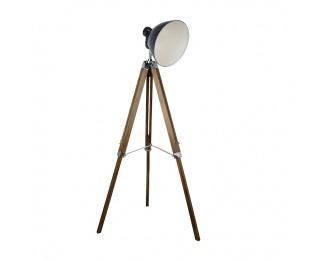 Stojacia lampa Cinda Typ 27 YFY804-A - prírodná / čierna / chróm