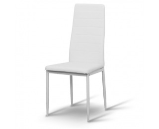 Jedálenská stolička Coleta Nova - biela / biela