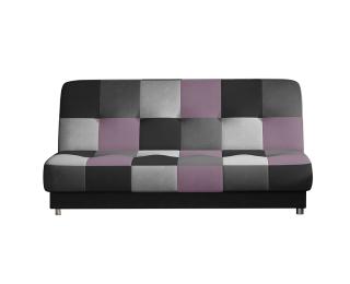 Rozkladacia pohovka s úložným priestorom Cosa - čierna / sivá / svetlosivá / fialová