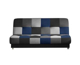 Rozkladacia pohovka s úložným priestorom Cosa - čierna / sivá / svetlosivá / modrá