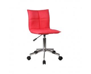 Kancelárska stolička Craig - červená / chróm