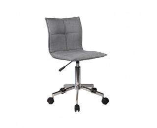 Kancelárska stolička Craig - sivá / chróm