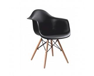 Jedálenská stolička Damen New - čierna / buk